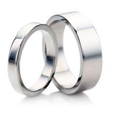 9ct white gold matching wedding ring sets