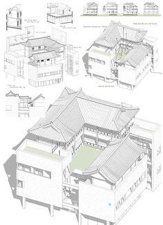 [나무신문] 국토교통부(장관 유일호)가 지난 3월 공고한 '2015 대한민국 한옥 공모전'의 각 부문별 수상작을 선정했다. 본 공모전은 우리… Architecture Panel, Japanese Architecture, Architecture Details, Interior Architecture, Japanese Buildings, Japanese House, Environment Design, Traditional House, Exterior Design
