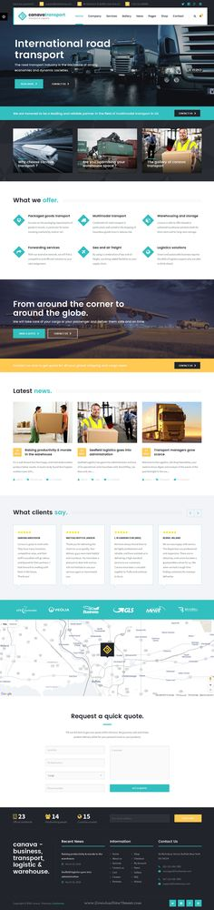 Canava - Logistics and Business WordPress Theme