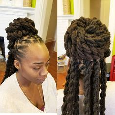 Image may contain: 1 person Dreadlock Hairstyles, Cool Hairstyles, Black Hairstyles, Wedding Hairstyles, Natural Hair Care, Natural Hair Styles, Dreadlock Styles, Locs Styles, Dreads Styles For Women