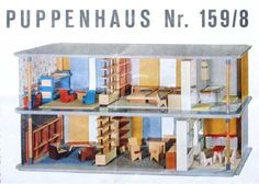 Well here's one hint that German model maker Kibri had a serious modernist thing going on in the early 1960's: check out the swingin' Kibri doll house at ...
