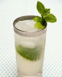 The perfect (and refreshing) summer cocktail: The Gin Rickey!  Gin, lime, and sparkling/tonic water