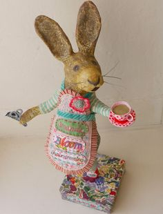 Audrey-6 . The art of of recycling paper and creating this loveliness. Papier mache