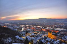 Trencin, Slovakia was freezing but looked like a Christmas card, which warmed me up a bit. Europe Must See, Places To Travel, Places To Visit, Central Europe, San Francisco Skyline, Places Ive Been, Paris Skyline, Castle, Around The Worlds