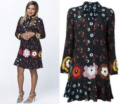 "36c692213e1 We get to see Mindy s floral print tie-neck dress from ""Leland Breakfast Is  The Miracle Worker"" in this season 5 cast photo - and it s on sale!"
