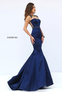 Sherri Hill dresses are designer gowns for television and film stars. Find out why her prom dresses and couture dresses are the choice of young Hollywood. Navy Prom Dresses, Sherri Hill Prom Dresses, Elegant Prom Dresses, Beautiful Prom Dresses, Pageant Dresses, Pretty Dresses, Formal Dresses, Prom Dress Couture, Beaded Prom Dress