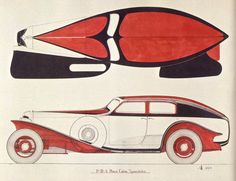 """oldschooliscool: """" This is a Cord design by Alan H. Leamy (Cord's Chief Stylist) dated A very, very interesting design, but one that was never produced, to my knowledge. Duesenberg Car, Car Museum, Bike Art, Automotive Design, Car Ins, Concept Cars, Vintage Cars, Classic Cars, Automobile"""