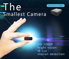A great little camera for your surveillance needs at home or at the office. Can be used as a nanny cam or just a hidden recording device. Has night vision and motion detection. gear camera home gadget Micro Spy Camera, Small Camera, Mini Camera, Hidden Camera, Little Camera, Voice Recorder, Camera Photography, Security Camera, Camcorder