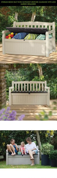 Storage Bench Seat Patio Outdoor Furniture Clearance With Lock Garden Organizer  #tech #parts #camera #kit #racing #shopping #technology #drone #patio #products #fpv #lock #gadgets #furniture #plans