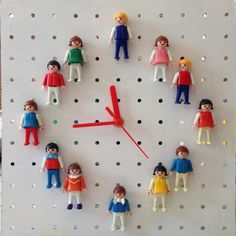 Pinned it, made it - Playmobil Clock