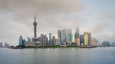 https://flic.kr/p/sRMXSQ | Cloudy Skyline | The Skyline of Shanghai partly behind clouds!