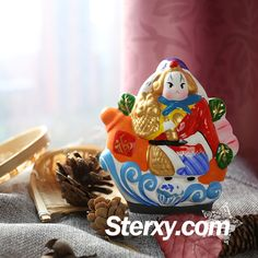 Sterxy Handmade Clay Beijing Rabbit God Figurine Chinese Clay Toy Ornament Traditional Beijing Tu'er Ye Home Decor, Lord Rabbit with Elephant Decor Room, Gourds, Beijing, Decor Crafts, Handicraft, Your Favorite, Rabbit, Elephant, Arts And Crafts