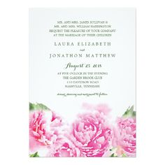 結婚する甘いピンクのシャクヤクの水彩画|