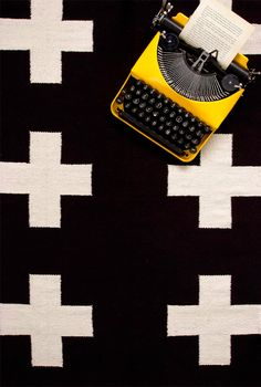 UNION RUG 8x10 cotton flatweave rug black and white by PatternSociety on Etsy https://www.etsy.com/listing/155475148/union-rug-8x10-cotton-flatweave-rug