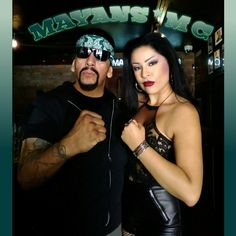 """Actors George Armani Benitez and Beautiful Paula on Set for a """"Sons of Anarchy Spin-off Series...  Awesome Pleasure to work with this Beautiful Cast of Characters...much Love and Respect to All of Them."""
