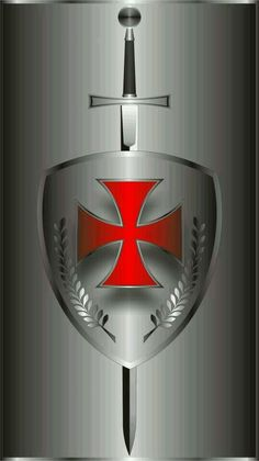 I chose the sword and shield of the crusaders to symbolize ones defending their belief in Catholicism. To confirm this, means you join the ranks of believers who defend what they believe in. Vasco Wallpaper, Knights Templar Symbols, Knight Sword, Crusader Knight, Christian Warrior, Masonic Symbols, Armor Of God, Freemasonry, Chivalry