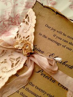 High End Handmade Invitations Wedding Bridal Shower by ShabbyScrap, $8.50
