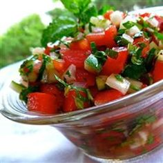 """Middle Eastern Tomato Salad   """"Very nice, light-tasting tomato salad, great for a hot summer day."""""""