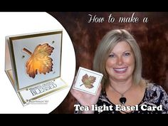 BLOG HOP & GIVEAWAY: How to make a Thanksgiving Tea Light Easel Card | Stampin Up Demonstrator - Tami White - Stamp With Tami Crafting and Card-Making Stampin Up blog
