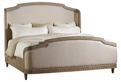 Upholstered Shelter Bed, King