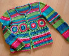 mix of knitting and crochet - [jacke.jpg]