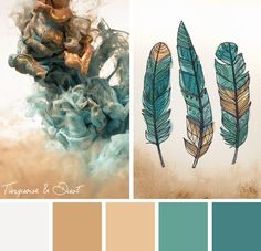 Through dust, let a little shimmer shine through with this Turquoise and Dust color scheme.