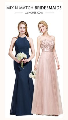 Mix & Match Bridesmaid Dresses #bridesmaid On Sale Now at JJsHouse