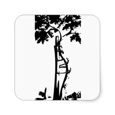 Orthopedic Crooked Tree Square Stickers