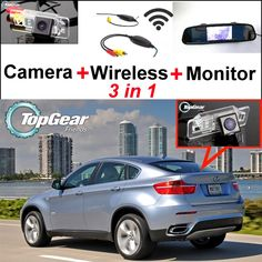 68.48$  Watch here - http://ali6zl.worldwells.pw/go.php?t=32467251607 - Special Rear View WiFi Camera + Wireless Receiver + Mirror Screen DIY Rear View Parking Backup System For BMW X6 E71