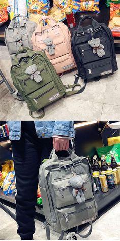 Leisure Oxford Shoulder Bag Campus School Bag Computer Bag Large Multi  Pockets College Backpack for big 8ad407e7cd