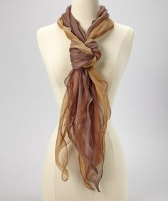 Take a look at this Tan & Brown Ombré Scarf by Treska on today! Diva Fashion, I Love Fashion, Fashion Outfits, Womens Fashion, Fashion Ideas, Style Me, Cool Style, My Wardrobe, Style Inspiration