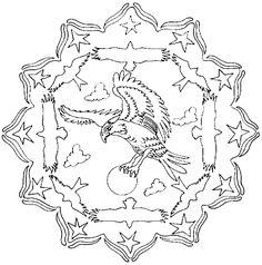 Coloriage Mandalas Animaux - Les beaux dessins de Autres à imprimer et colorier