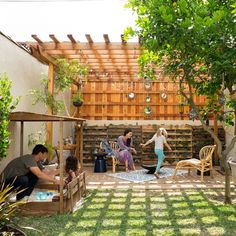 Turn your backyard into a shady kick-back space.