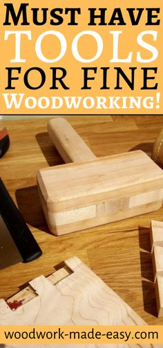 Looking to get into woodworking but on a budget or prefer hand tools? Learn these MUST-HAVE tools for fine woodworking! Woodworking Hand Tools, Woodworking Magazine, Woodworking Furniture, Woodworking Plans, Woodworking Projects, Furniture Screws, Woodworking Articles, Woodworking Inspiration, Woodworking Shop