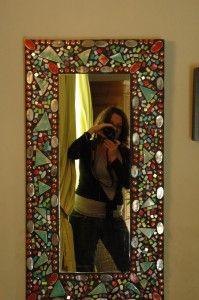 ceramic and glass mosaic mirror