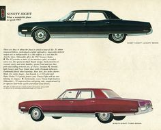 1967 Oldsmobile Ninety Eight Holiday Luxury Sedan and Holiday Sedan
