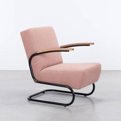Dykmeyer De Zwaan  buisframe fauteuil Limited Edition Prairie Roze (27) en zwart frame (RAL9017)