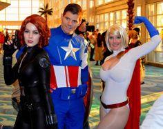 #Cosplay: Black Widow, Captain America & #Powergirl - Vegas PG Cosplay