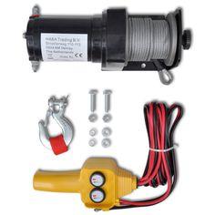 Elektrische lier 12V 907 KG met Afstandsbediening 70 euri