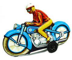 Motorbike W-Germany Tin Toy