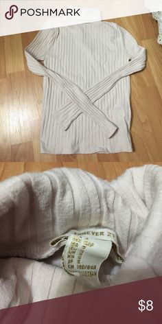 Light pink turtleneck Worn once, size small from F21. 10/10 condition! Forever 21 Tops