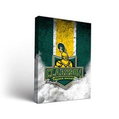 Victory Tailgate NCAA Vintage Design Framed Graphic Art on Wrapped Canvas  NCAA Team  Clarkson University 29caab499