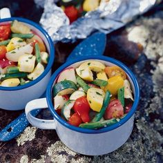 Fun camping recipes! ~Cowboy Spud and Veggie Medley