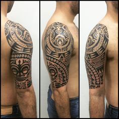 "191 Likes, 15 Comments - Gustavo Teixeira Franzoni (@guteixeiratattoo) on Instagram: ""Tatuagem feita em 4 sessões. Duas para ombro e duas para braço. #maoritattoo #maori #polynesian…"""