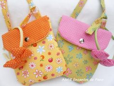 67 Best Ideas Sewing Purses And Bags Little Girls Bags For Teens, Girls Bags, Sewing For Kids, Baby Sewing, Diy For Men, Handmade Handbags, Simple Bags, Quilted Bag, Fabric Bags