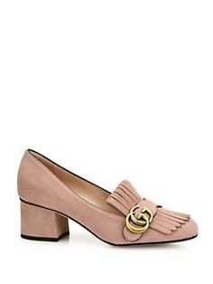 Leather mid-heel loafer - Nude & Neutrals Gucci LrXXHl