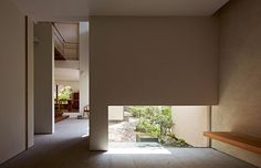 Modern residence by Yasumitsu Takano Architect and Associates 1st Apartment, Modern Bungalow, Meditation Space, Japanese Interior, Space Architecture, Japanese House, Minimalist Interior, Next At Home, House Design