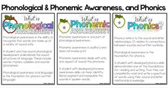 Phonological and phonemic awareness assessments and interventions