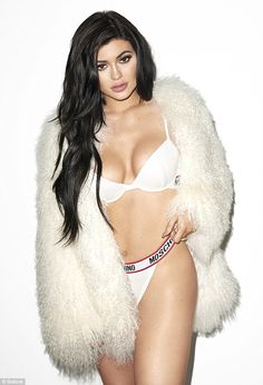 Kylie Jenner shows off curves in bra and panties for sexy photo shoot #dailymail