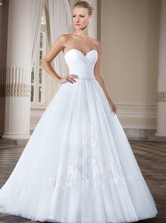 Vestidos de noiva - Coleção Callas (5) Frente tomara que caia